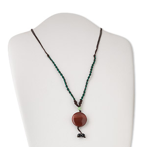 Necklace, agate (dyed / heated), 26x8mm disc, 22-inch. Sold individually. Minimum 3 per order.