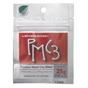 PMC3™ Precious Metal Clay, silver, low fire. Sold per 25-gram pkg.