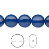 Pearl, Swarovski crystal gemcolors, dark lapis, 12mm coin (5860). Sold per pkg of 100.