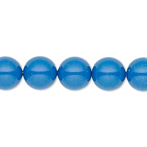 Pearl, Swarovski® crystal gemcolors, lapis, 10mm round (5810). Sold per pkg of 25.
