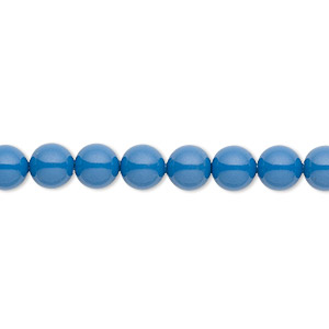 Pearl, Swarovski® crystal gemcolors, lapis, 6mm round (5810). Sold per pkg of 50.