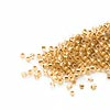 Seed bead, Delica®, glass, 24Kt gold-lined crystal, (DB33CUT), #11 cut. Sold per pkg of 50 grams.
