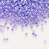 Seed bead, Delica®, glass, ceylon color-lined violet, (DB249), #11 round. Sold per 50-gram pkg.
