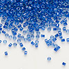 Seed bead, Delica®, glass, color-lined midnight blue, (DB285), #11 round. Sold per 50-gram pkg.