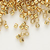 Seed bead, Delica®, glass, galvanized yellow gold, (DB410), #11 round. Sold per 50-gram pkg.