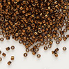 Seed bead, Delica®, glass, nickel-finished copper, (DB461), #11 round. Sold per 50-gram pkg.