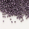 Seed bead, Delica®, glass, nickel-finished light purple, (DB455), #11 round. Sold per 7.5-gram pkg.