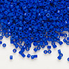 Seed bead, Delica®, glass, opaque dark blue, (DB726), #11 round. Sold per pkg of 50 grams.