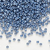Seed bead, Delica®, glass, opaque luster denim blue, (DB267), #11 round. Sold per pkg of 50 grams.