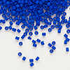 Seed bead, Delica®, glass, opaque matte cobalt blue, (DB756), #11 round. Sold per pkg of 7.5 grams.