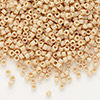 Seed bead, Delica®, glass, opaque matte luster pale brick, (DB389), #11 round. Sold per pkg of 7.5 grams.
