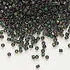Seed bead, Delica®, glass, opaque matte metallic dark teal, (DB327), #11 round. Sold per pkg of 7.5 grams.