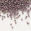 Seed bead, Delica®, glass, opaque matte metallic luster rainbow lavender, (DB1062), #11 round. Sold per pkg of 50 grams.