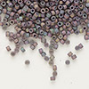 Seed bead, Delica®, glass, opaque matte metallic luster rainbow lilac, (DB1067), #11 round. Sold per pkg of 7.5 grams.