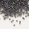 Seed bead, Delica®, glass, opaque matte metallic luster rainbow violet, (DB1053), #11 round. Sold per pkg of 50 grams.