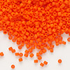 Seed bead, Delica®, glass, opaque matte orange, (DB752), #11 round. Sold per pkg of 7.5 grams.