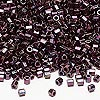 Seed bead, Delica®, glass, opaque metallic raspberry, (DBL12CUT), #8 cut. Sold per 7.5-gram pkg.