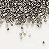 Seed bead, Delica®, glass, opaque nickel finish, (DB21CUT), #11 cut. Sold per 250-gram pkg.