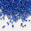 Seed bead, Delica®, glass, opaque rainbow cobalt, (DB165), #11 round. Sold per 7.5-gram pkg.