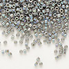 Seed bead, Delica®, glass, opaque rainbow grey, (DB168), #11 round. Sold per pkg of 50 grams.