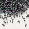 Seed bead, Delica®, glass, opaque rainbow purple rose, (DB1001), #11 round. Sold per pkg of 7.5 grams.