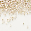Seed bead, Delica®, glass, silver-lined opal blush, (DB1452), #11 round. Sold per pkg of 7.5 grams.