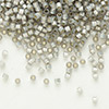 Seed bead, Delica®, glass, silver-lined opal grey, (DB630), #11 round. Sold per 50-gram pkg.