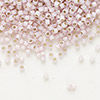 Seed bead, Delica®, glass, silver-lined opal petunia, (DB1457), #11 round. Sold per pkg of 50 grams.