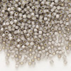 Seed bead, Delica®, glass, silver-lined opal taupe, (DB1456), #11 round. Sold per pkg of 7.5 grams.