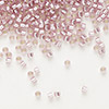 Seed bead, Delica®, glass, silver-lined rose, (DB1434), #11 round. Sold per pkg of 7.5 grams.