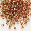 Seed bead, Delica®, glass, transparent luster cocoa, (DBL121), #8 round. Sold per 7.5-gram pkg.