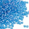 Seed bead, Dyna-Mites™, glass, frosted rainbow teal, #11 round. Sold per 1/2 kilogram pkg.
