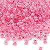 Seed bead, Dyna-Mites™, glass, inside color dusty rose, #6 round. Sold per 1/2 kilogram pkg.