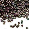 Seed bead, Dyna-Mites™, glass, iris purple, #11 round. Sold per 40-gram pkg.