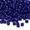 Seed bead, Dyna-Mites™, glass, opaque navy blue, #6 round. Sold per 1/2 kilogram pkg.