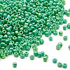 Seed bead, Dyna-Mites™, glass, opaque rainbow emerald green, #11 round. Sold per 40-gram pkg.