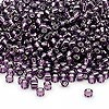 Seed bead, Dyna-Mites™, glass, silver-lined amethyst purple, #8 round. Sold per 1/2 kilogram pkg.