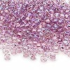 Seed bead, Dyna-Mites™, glass, transparent rainbow inside color lavender, #6 round. Sold per 1/2 kilogram pkg.