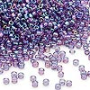 Seed bead, Dyna-Mites™, glass, transparent rainbow purple, #11 round. Sold per 40-gram pkg.