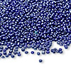 Seed bead, Ming Tree™, glass, opaque luster blue, #11 round. Sold per pkg of 1 pound.