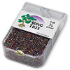 Seed bead, Ming Tree™, glass, opaque rainbow gold purple, #11 round. Sold per pkg of 1/4 pound.