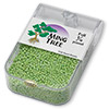 Seed bead, Ming Tree™, glass, opaque rainbow lime green, #11 round. Sold per pkg of 1/4 pound.