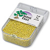 Seed bead, Ming Tree™, glass, opaque rainbow yellow, #11 round. Sold per pkg of 1/4 pound.