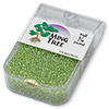 Seed bead, Ming Tree™, glass, transparent luster lime green, #11 round. Sold per pkg of 1/4 pound.
