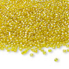Seed bead, Ming Tree™, glass, transparent luster yellow, #11 round. Sold per pkg of 1 pound.