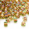 Seed bead, Miyuki, glass, lime color-lined copper, (TR1818), #5 triangle. Sold per 250-gram pkg.