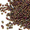 Seed bead, Miyuki, glass, metallic rainbow bronze, (#462), #15 rocaille. Sold per 35-gram pkg.