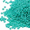 Seed bead, Miyuki, glass, opaque light teal, (#412), #15 rocaille. Sold per 35-gram pkg.