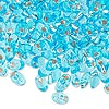 Seed bead, Miyuki, glass, silver-lined transparent light blue, 7x4mm long magatama. Sold per pkg of 50 grams.