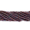 Seed bead, Preciosa® Czech glass, iris metallic moss, #11 round. Sold per 1/2 kilogram pkg.